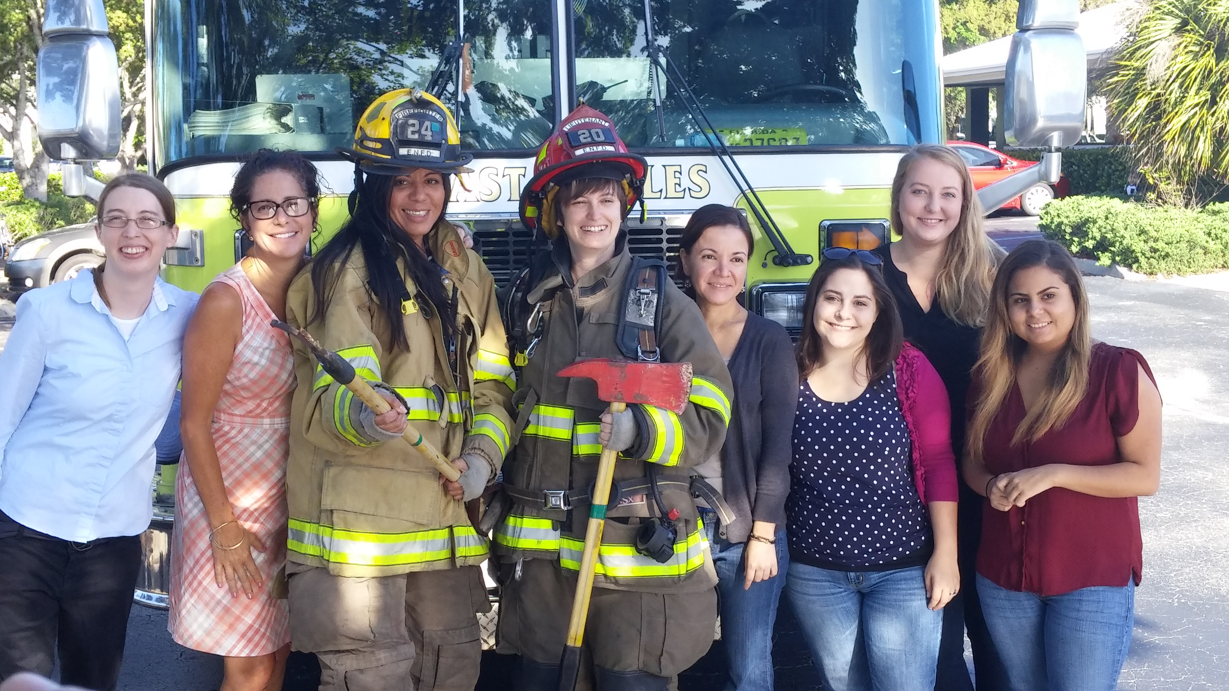 East Naples Fire Fighters visit RGB Team!