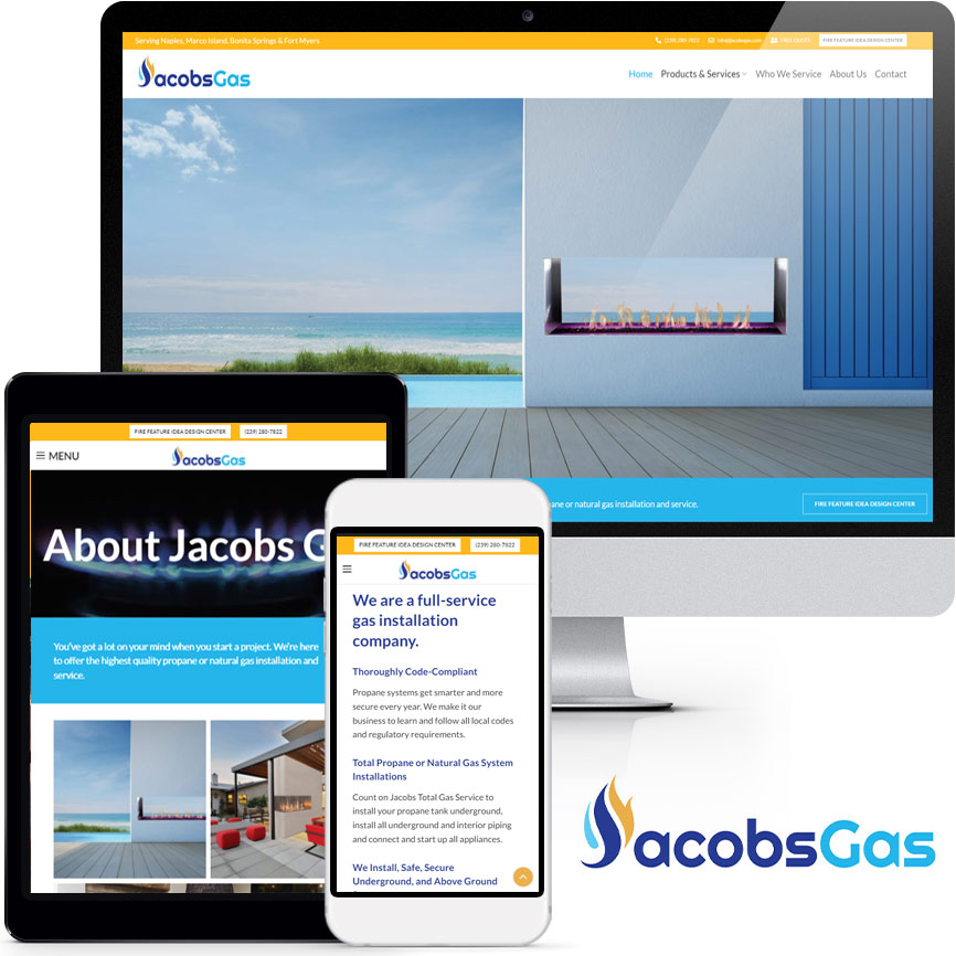 2020 WordPress Propane and Natural Gas Website Design Portfolio: Jacobs Total Gas Services | RGB Internet Systems, a Florida Website Design Company