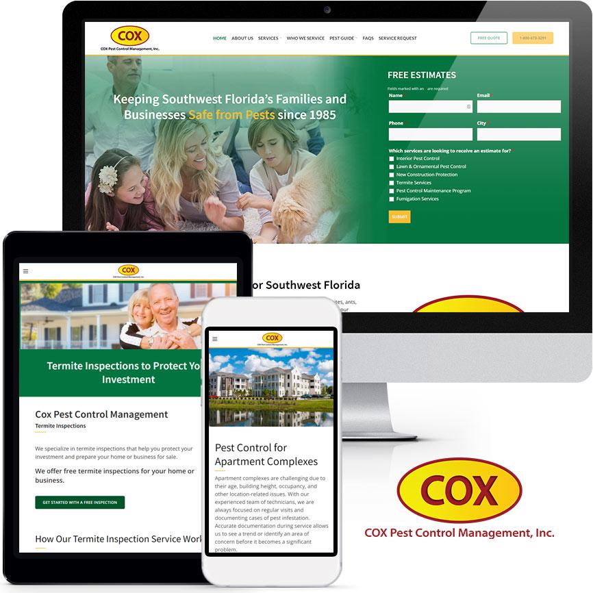 2020 WordPress Pest Control Website Design Portfolio | RGB Internet Systems, a Florida Website Design Company