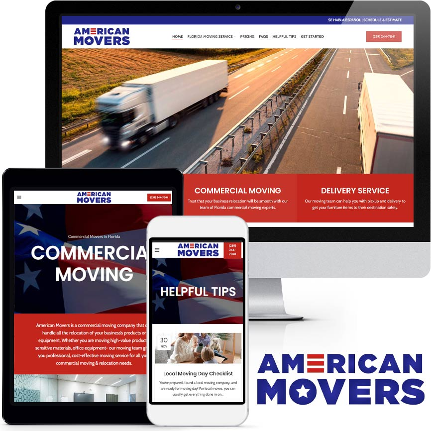 2020 WordPress Moving Company Website Design Portfolio | RGB Internet Systems, a Florida Website Design Company