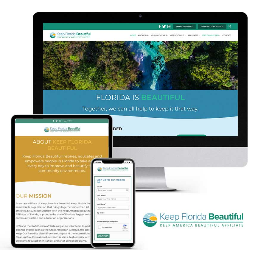 2020 WordPress Website Design Portfolio: Keep Florida Beautiful | RGB Internet Systems, a Florida Website Design Company