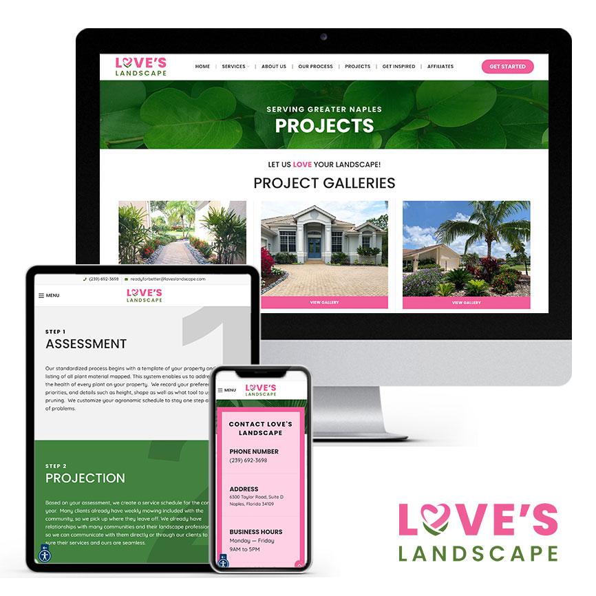2021 WordPress Website Design Portfolio for Landscape Company | RGB Internet Systems, a Florida Website Design Company