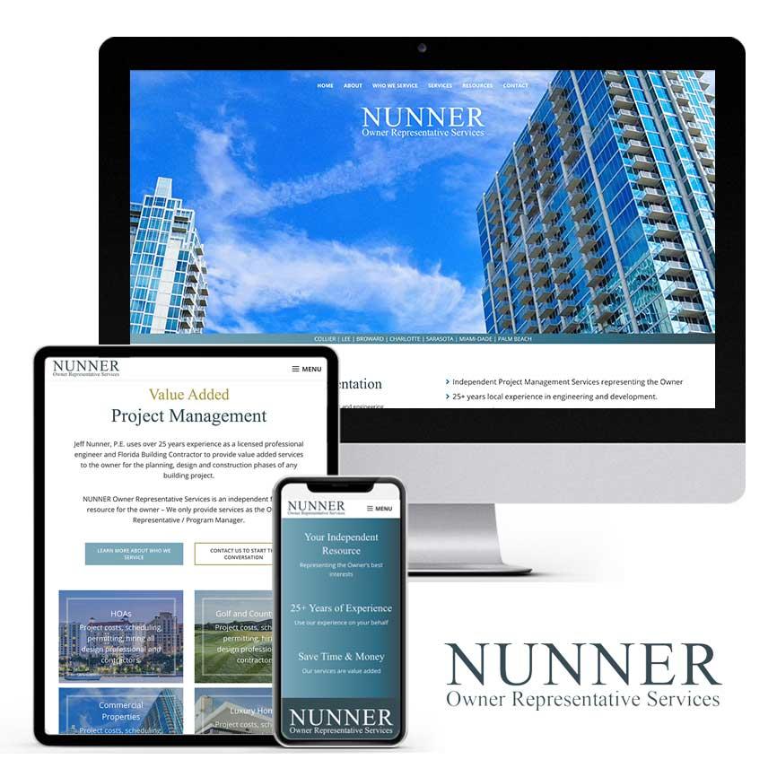 2021 WordPress Website Design Portfolio for Owner Representative Services Company | RGB Internet Systems, a Florida Website Design Company