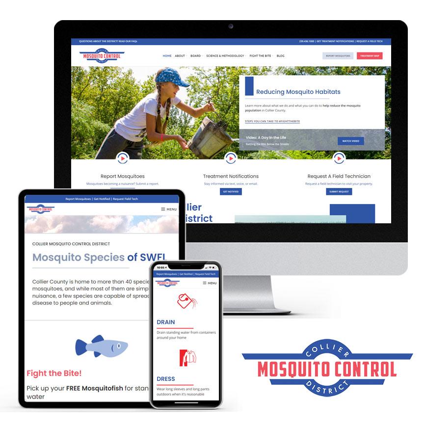 2021 WordPress Website Design Portfolio for Mosquito Control | RGB Internet Systems, a Florida Website Design Company