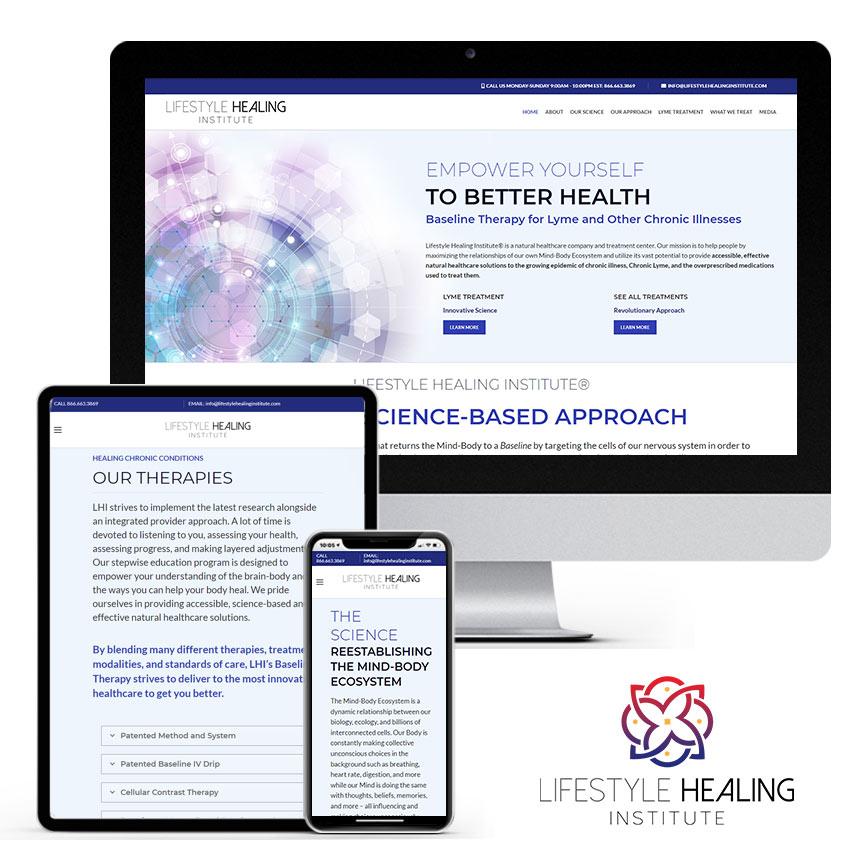 2021 WordPress Website Design Portfolio for Natural Healing Center | RGB Internet Systems, a Florida Website Design Company