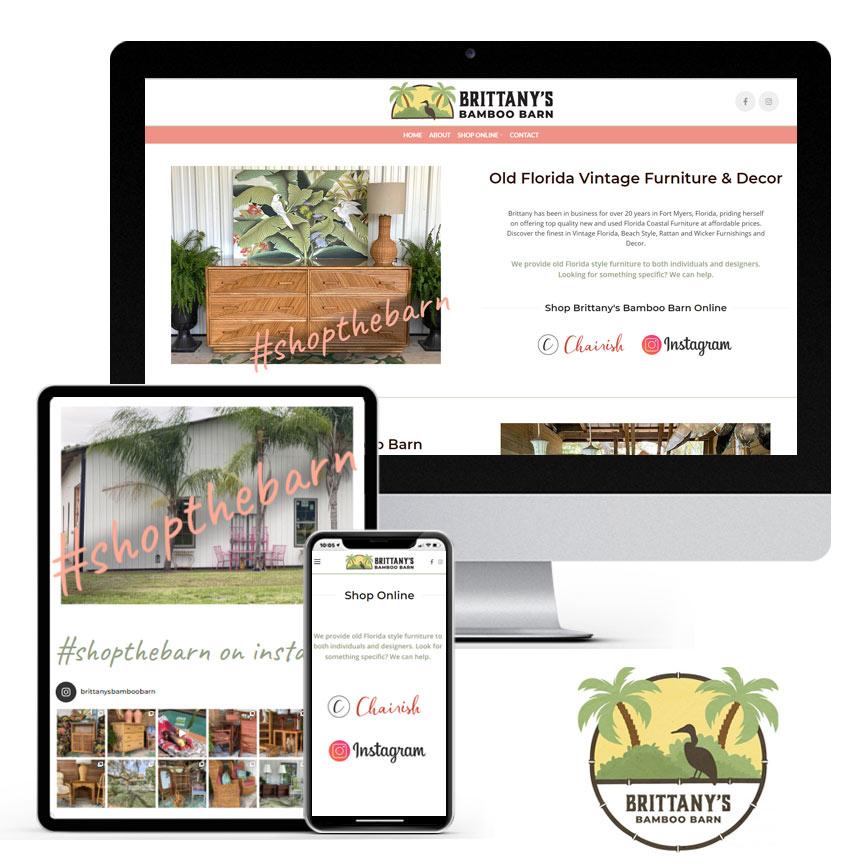 2021 WordPress Website Design Portfolio: Brittany's Bamboo Barn | RGB Internet Systems, a Florida Website Design Company