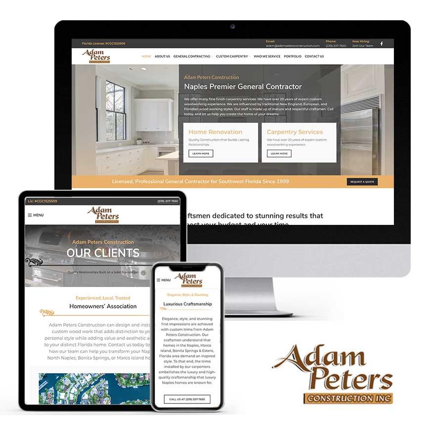 2021 WordPress Website Design Portfolio for Construction Company | RGB Internet Systems, a Florida Website Design Company