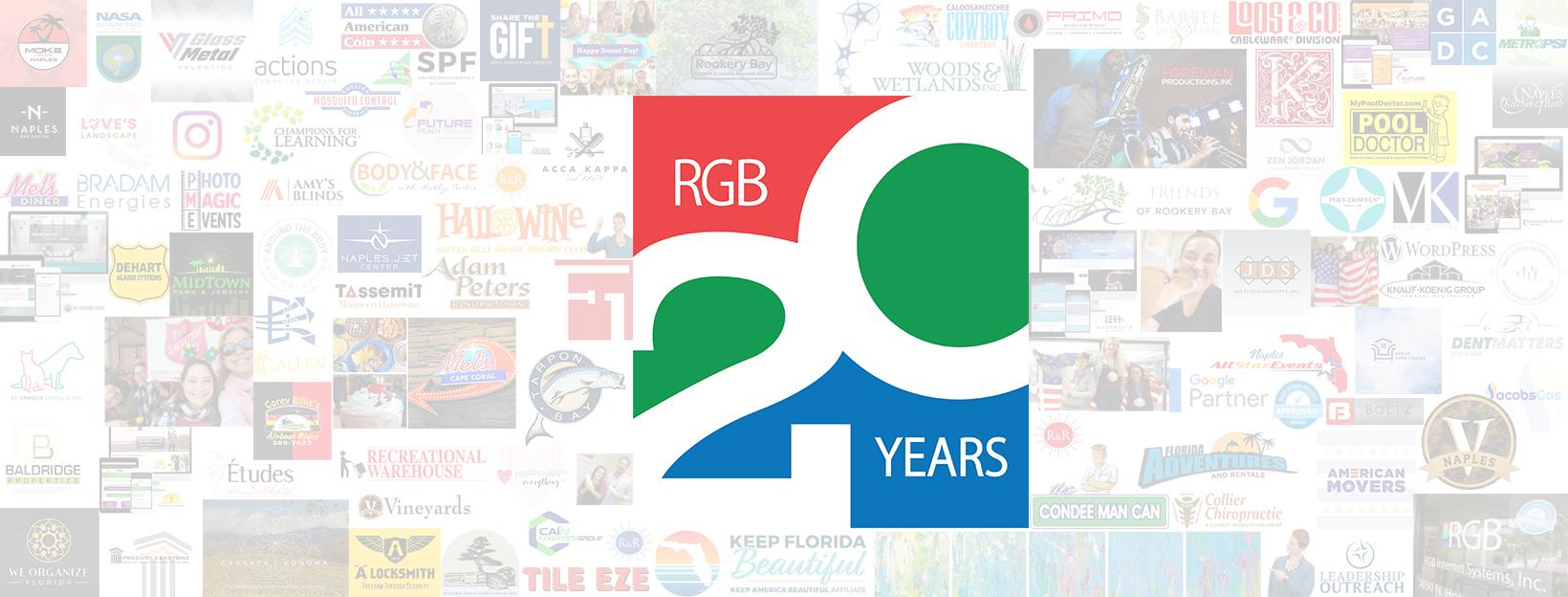 RGB 20th Anniversary | Florida Web Design Company