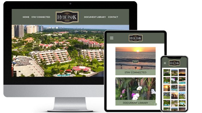 Community Association Web Design Portfolio Featured Business: Hyde at Pelican Bay Condominium Association | RGB Internet Systems