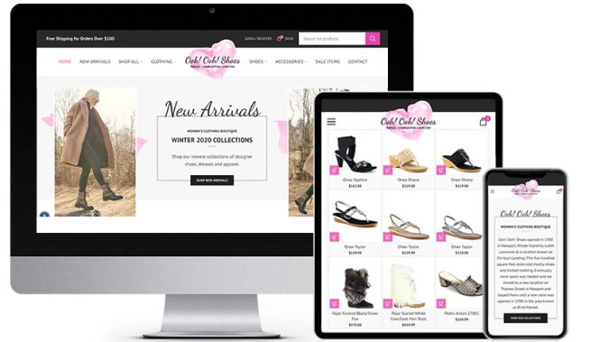 eCommerce Web Design Portfolio Featured Business: Ooh! Ooh! Shoes| RGB Internet Systems