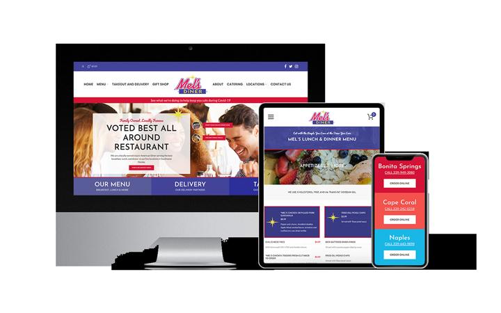 Florida Web Design Company WordPress Website Portfolio Feature: Mel's Diner | RGB Internet Systems