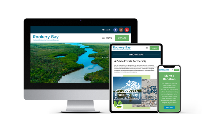 Florida Web Design Company Non-Profit Website Portfolio Feature: Rookery Bay | RGB Internet Systems