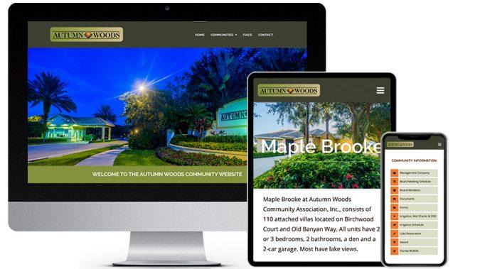 Community Association Web Design Portfolio Featured Business: Autumn Woods Community Website | RGB Internet Systems