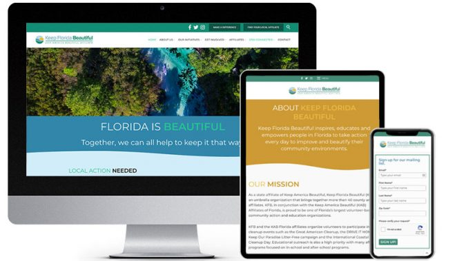 Wordpress Websites Keep Florida Beautiful | RGB Web Design