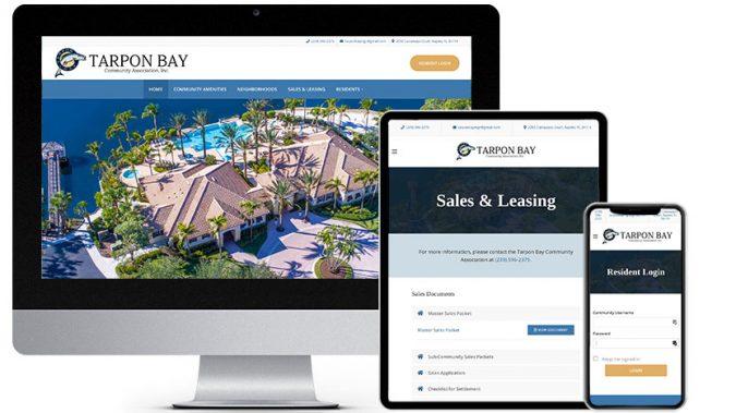 Community Association Web Design Portfolio Featured Business: Tarpon Bay Community Association | RGB Internet Systems