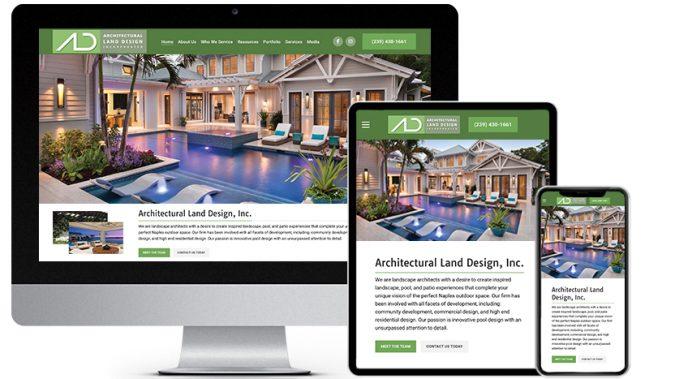 Responsive Web Design Portfolio Featured Business: Architectural Land Design, Inc.   RGB Internet Systems