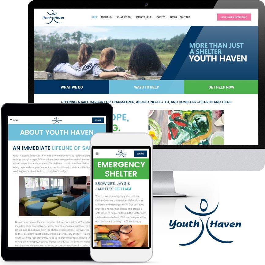 RGB Internet Systems 2019 Non-Profit Website Design Portfolio: Youth Haven, Inc. | RGB Internet: A Florida Website Design Company