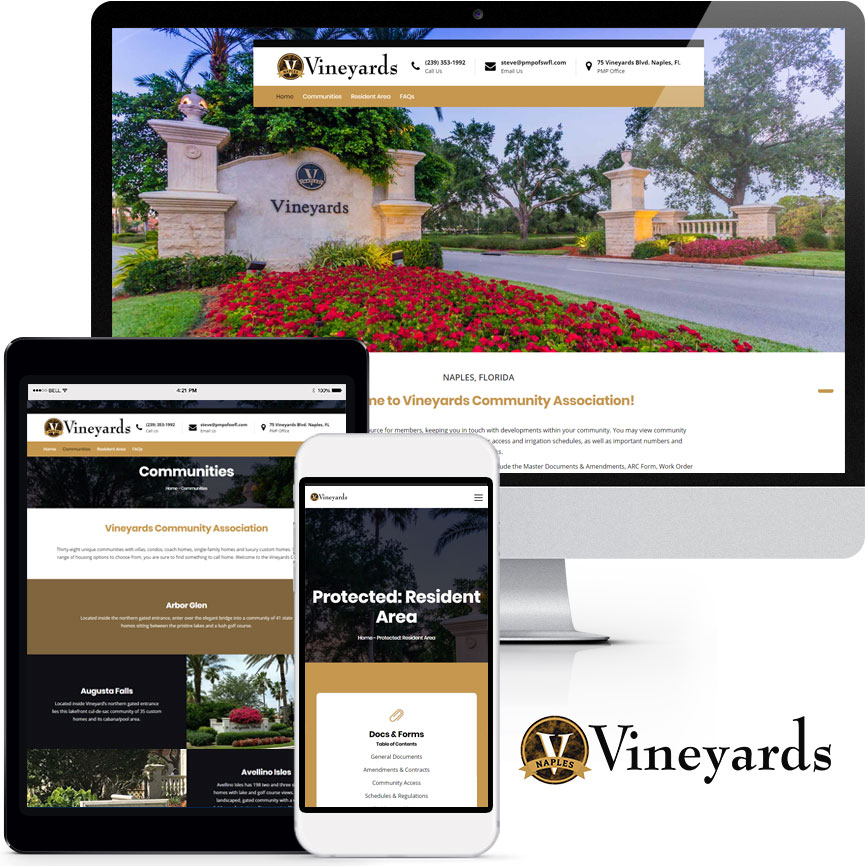HOA & COA Website Design Portfolio S923 | RGB Internet: A Florida Website Design Company